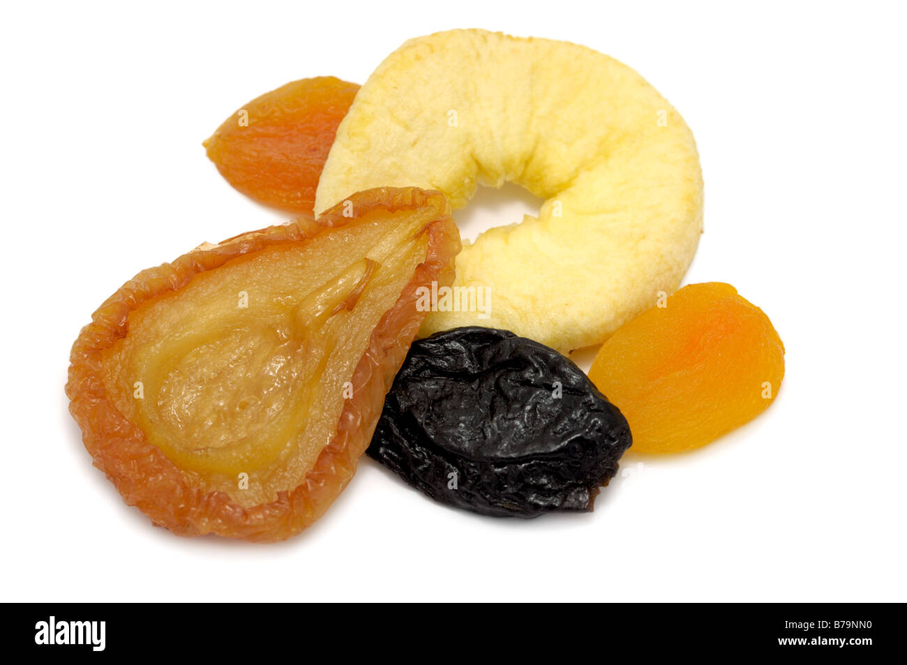 Dried Fruit, Pear, Apple Ring, Prune, Apricots - Stock Image
