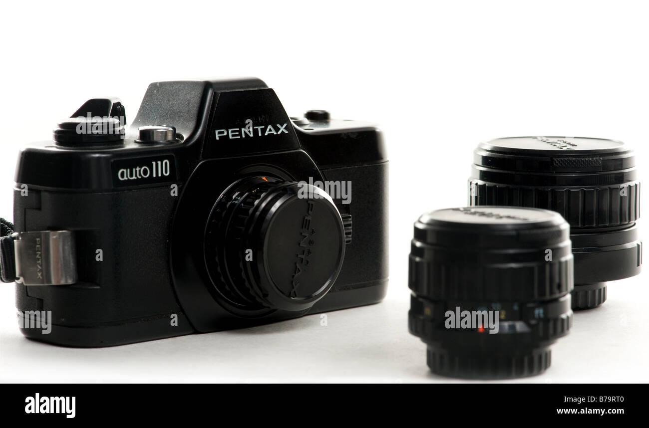 Pentax Auto 110 mini slr camera from 1978 Stock Photo