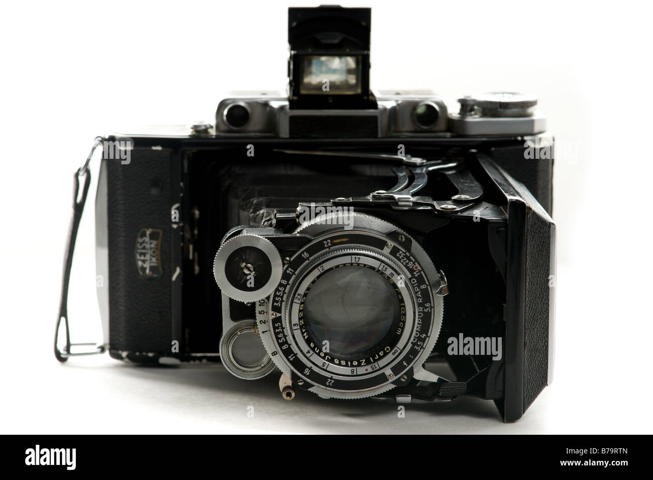 Old fold out Zeiss Camera - Stock Image