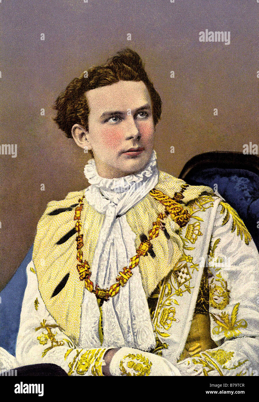 The young Ludwig II King of Bavaria - Stock Image