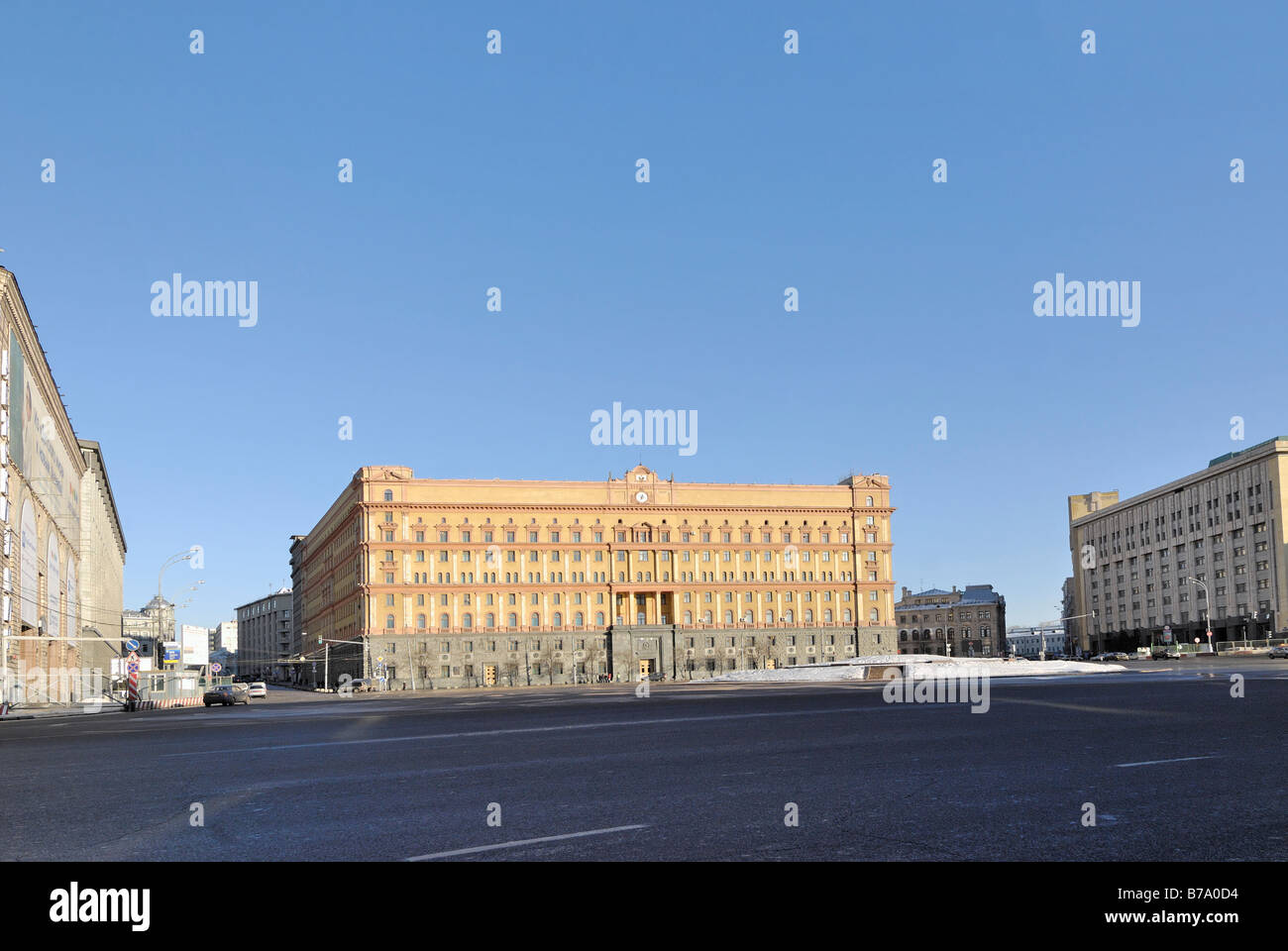 Building of Russian FSB old KGB in Moscow - Stock Image