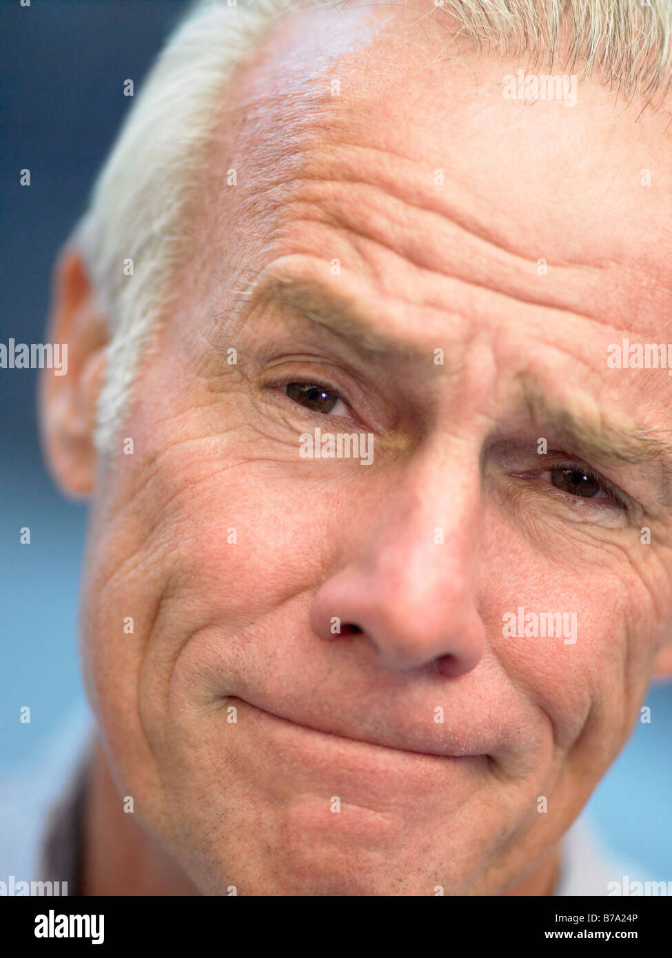 Portrait Of Senior Man Looking At Camera - Stock Image