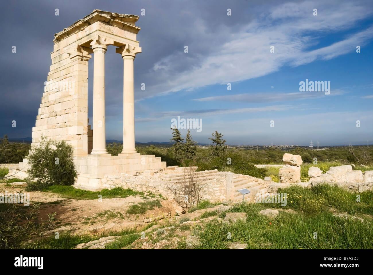 Apollo Temple, Roman excavations, Cyprus - Stock Image