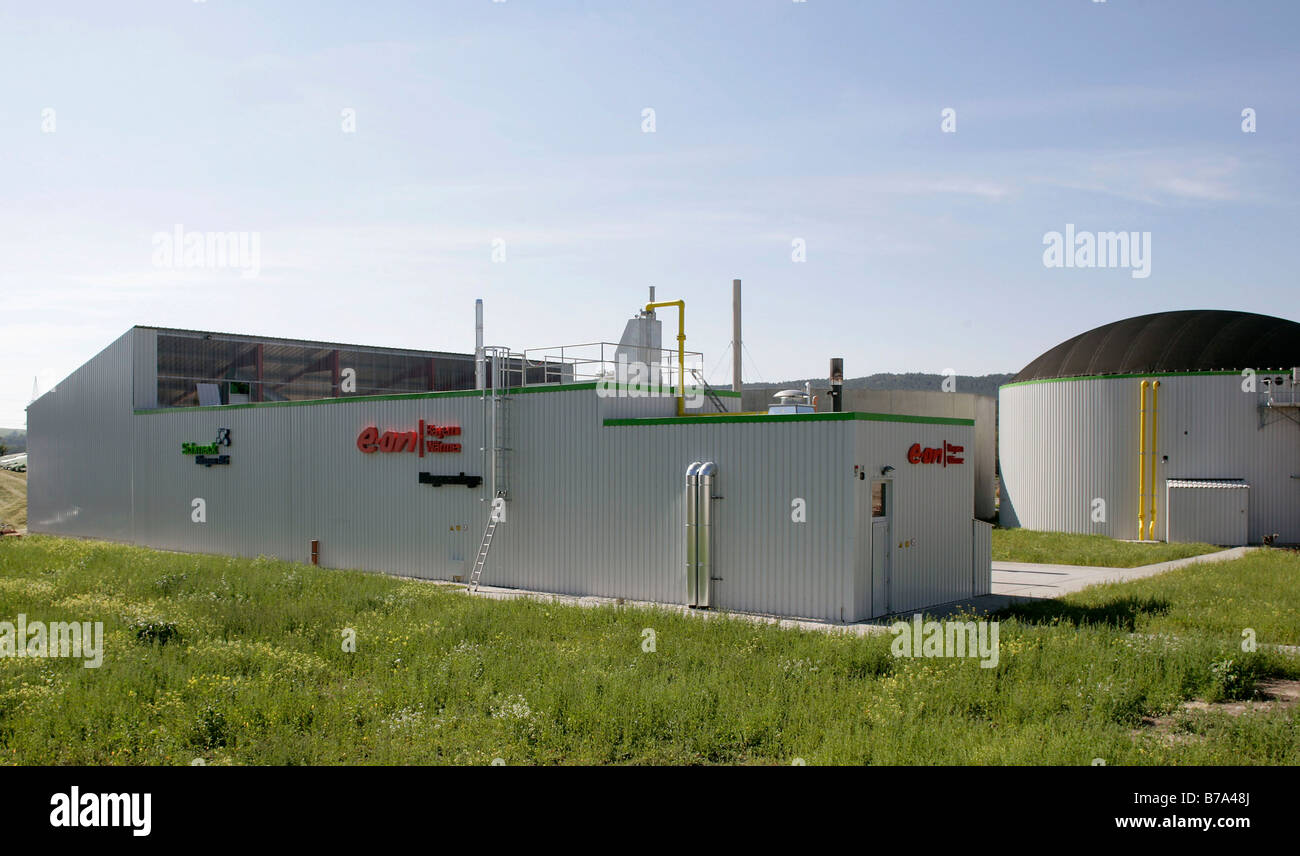 Biogas plant of the Schmack Biogas AG in Schwandorf, Bavaria, Germany, Europe - Stock Image