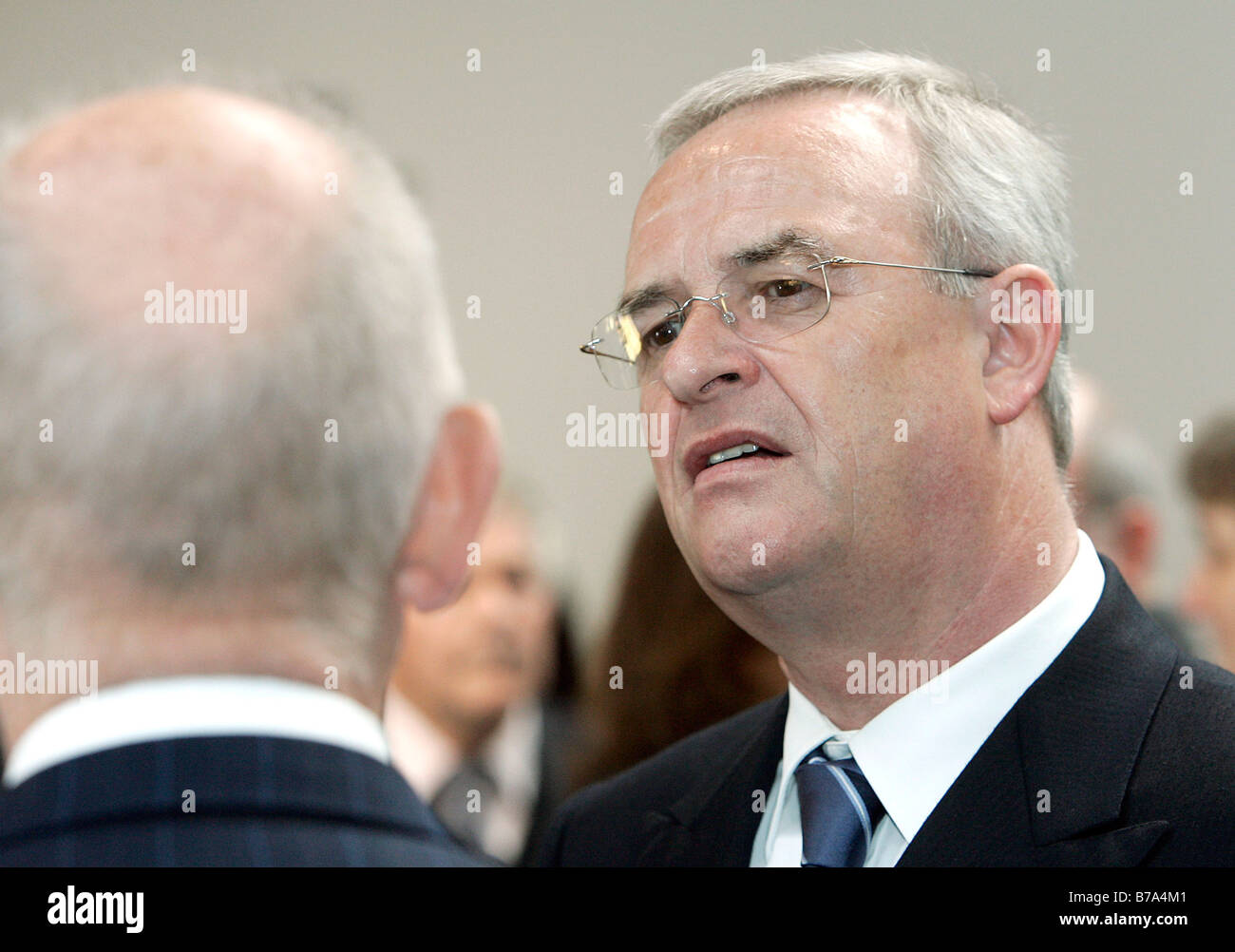 Martin Winterkorn, at right, chief executive of the Volkswagen AG, and Ferdinand K. Piech, chairman of the supervisory Stock Photo
