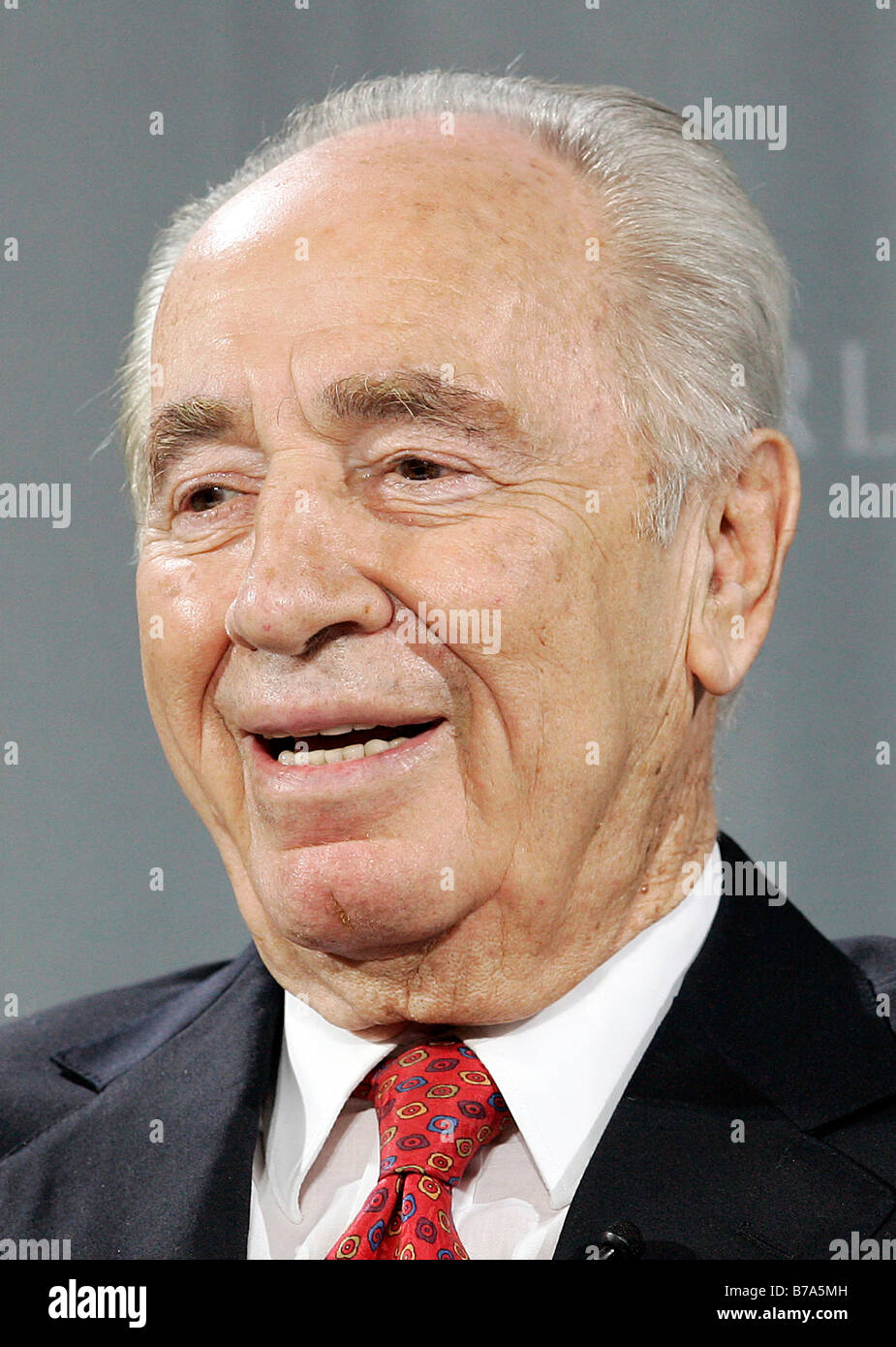 Shimon Peres, Israel, Deputy Prime Minister of Israel and Nobel Peace Prize winner, in Passau, Bavaria, Germany, - Stock Image