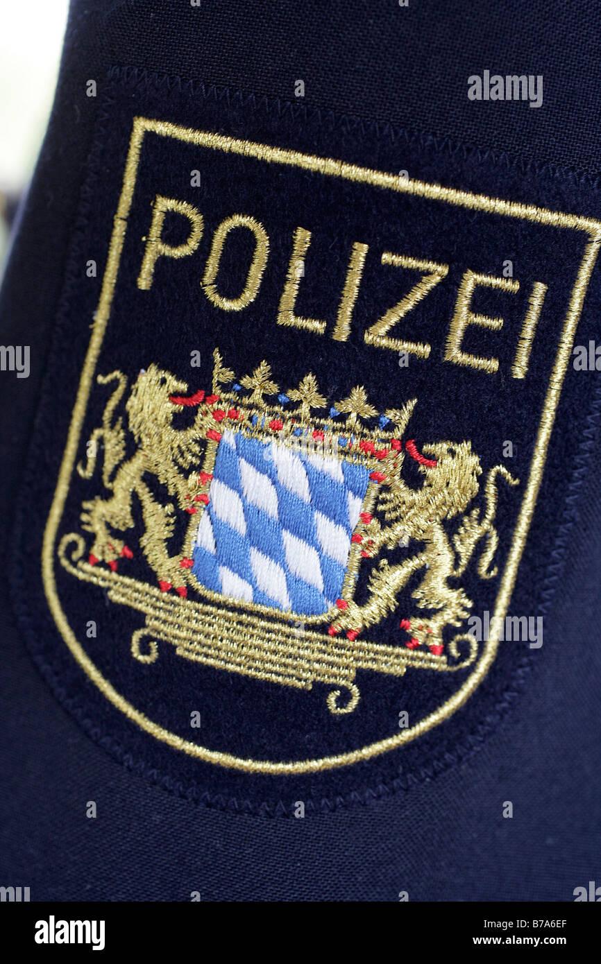 Bavarian police badge, Bavaria, Germany, Europe - Stock Image