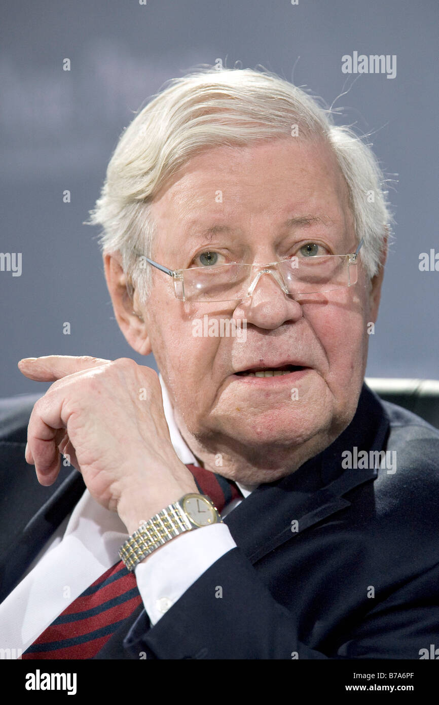 Former chancellor Helmut Schmidt, SPD, Social Democratic Party of Germany, in Passau, Germany, Europe - Stock Image