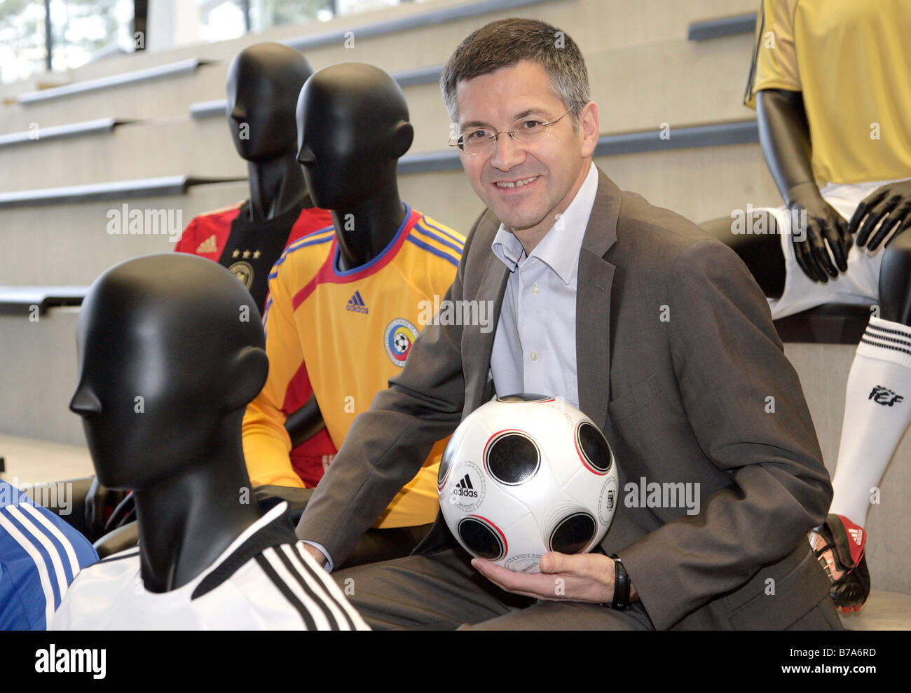 Herbert Hainer, chairman of the Adidas AG, prior to the press conference on financial statements on the 05.03.2008 - Stock Image
