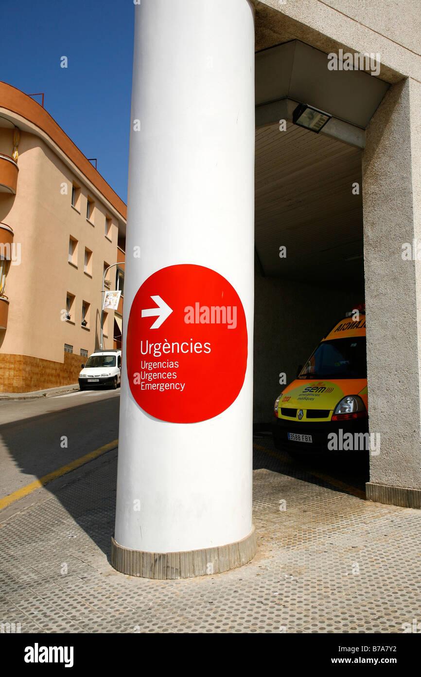 Emergency room of a Spanish hospital, Palamos, Costa Brava
