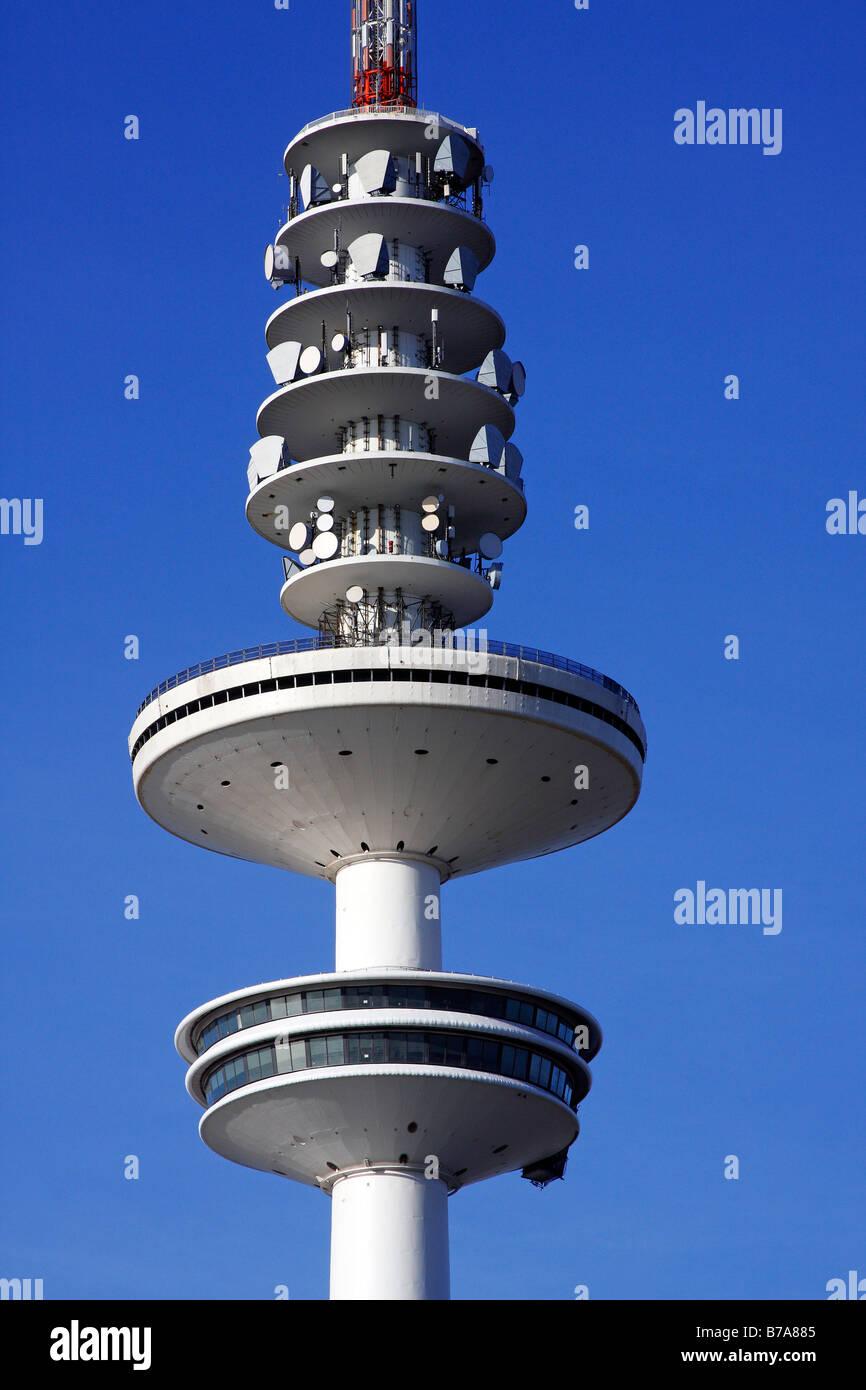 Tele-Michel, the Hamburg telecommunications or television tower, also called the Heinrich-Hertz-Turm, Hamburg, Germany, - Stock Image