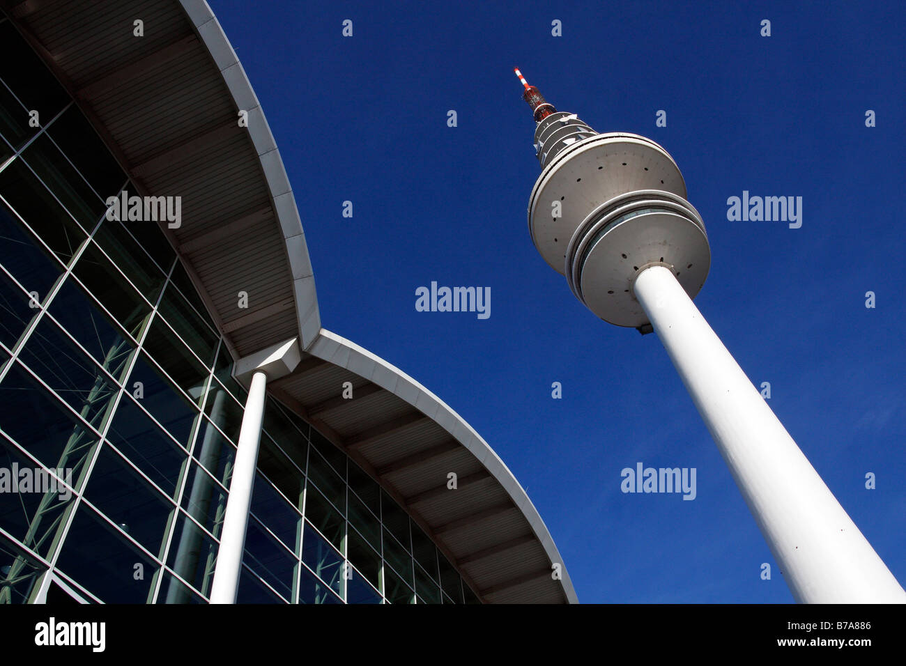 Tele-Michel, the Hamburg telecommunications or television tower, also called the Heinrich-Hertz-Turm, next to the - Stock Image