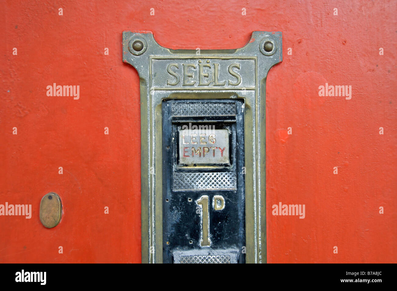 Old stamp vending machine, in Pilgrim's Rest, South Africa - Stock Image