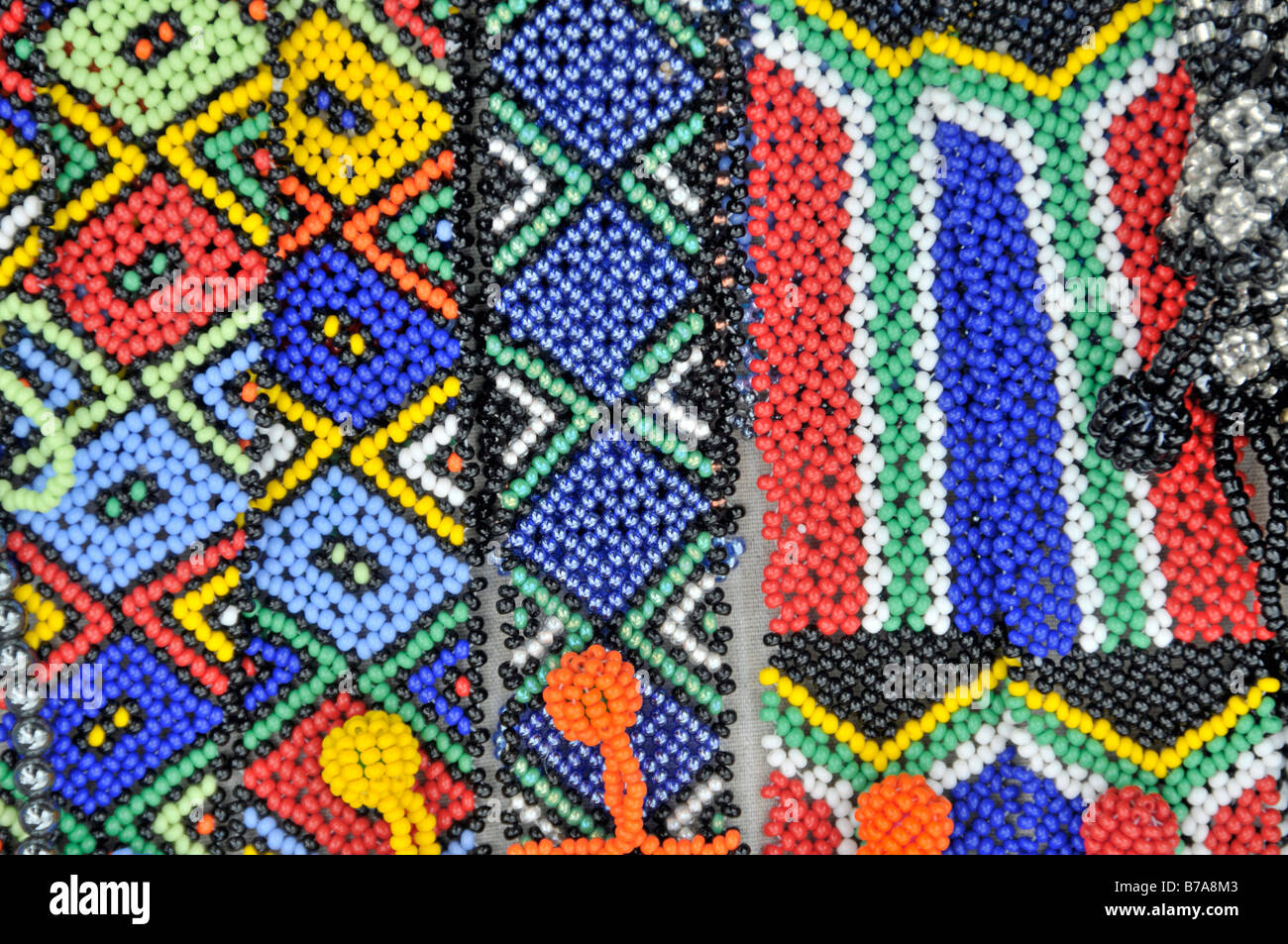 Inexpensive jewellery, bulk articles, souvenirs, Santa Lucia, South Africa, Africa - Stock Image