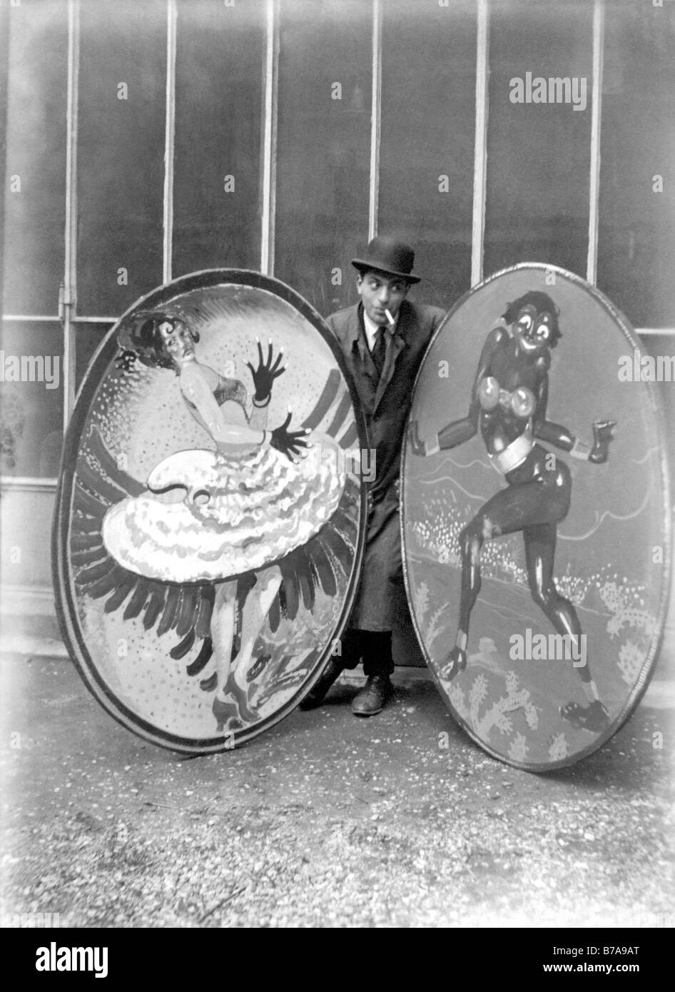 Historical photo, advertising signs for the circus, ca. 1920 - Stock Image