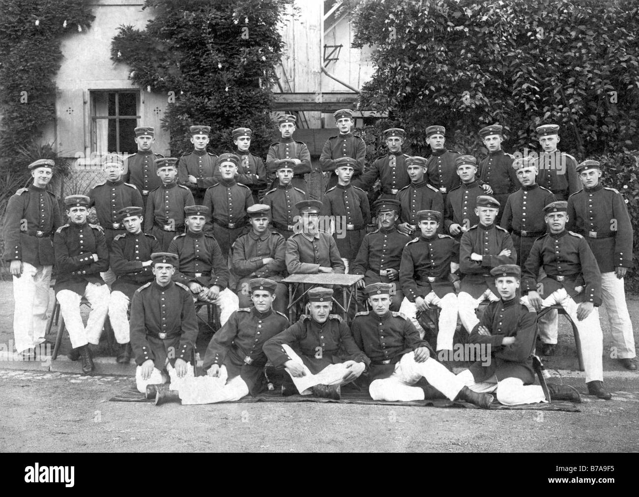 Historic photo, First World War, group photo of soldiers Stock Photo