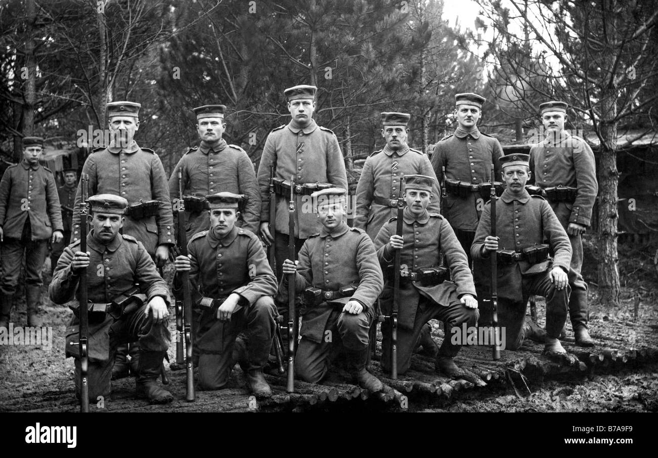 Historic photo, First World War, February 14th 1916 - Stock Image