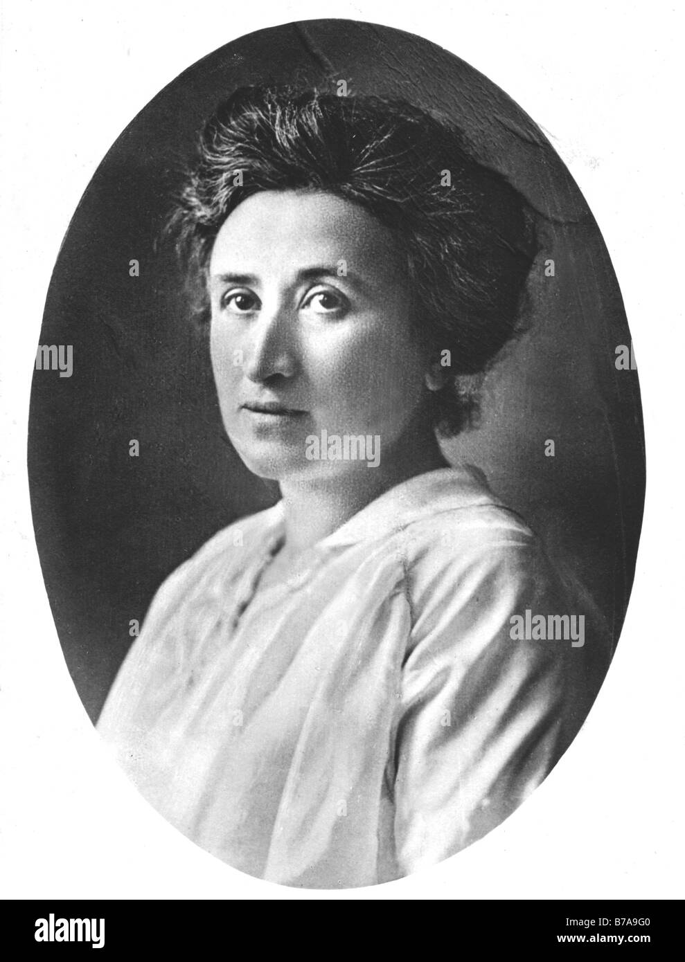 Historic photo, Rosa Luxemburg, co-founder and chairperson of the German communist party - Stock Image