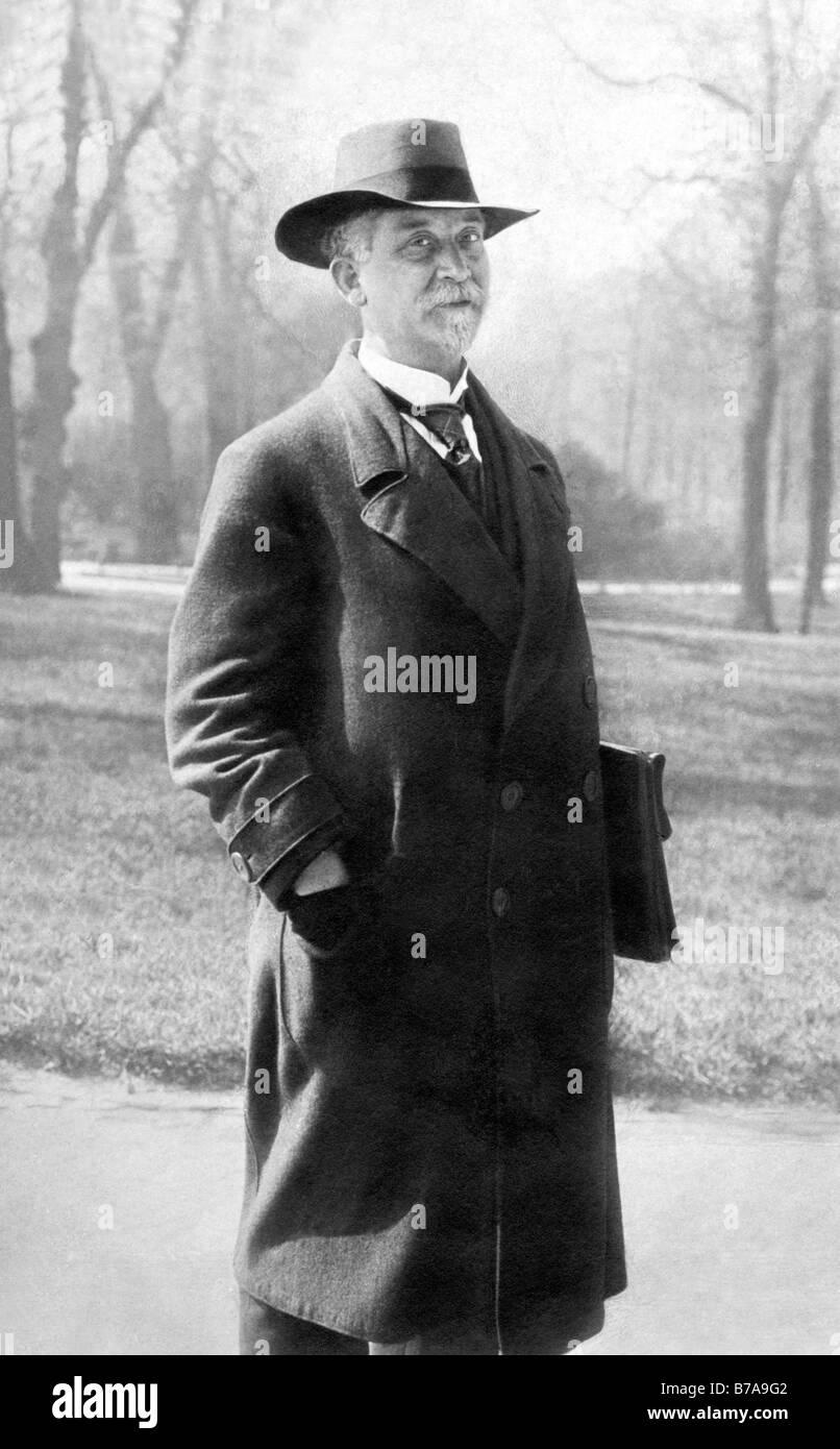 Historic photo, portrait of Philipp Scheidemann, ca. 1917, first minister president of the Weimar Republic, here - Stock Image