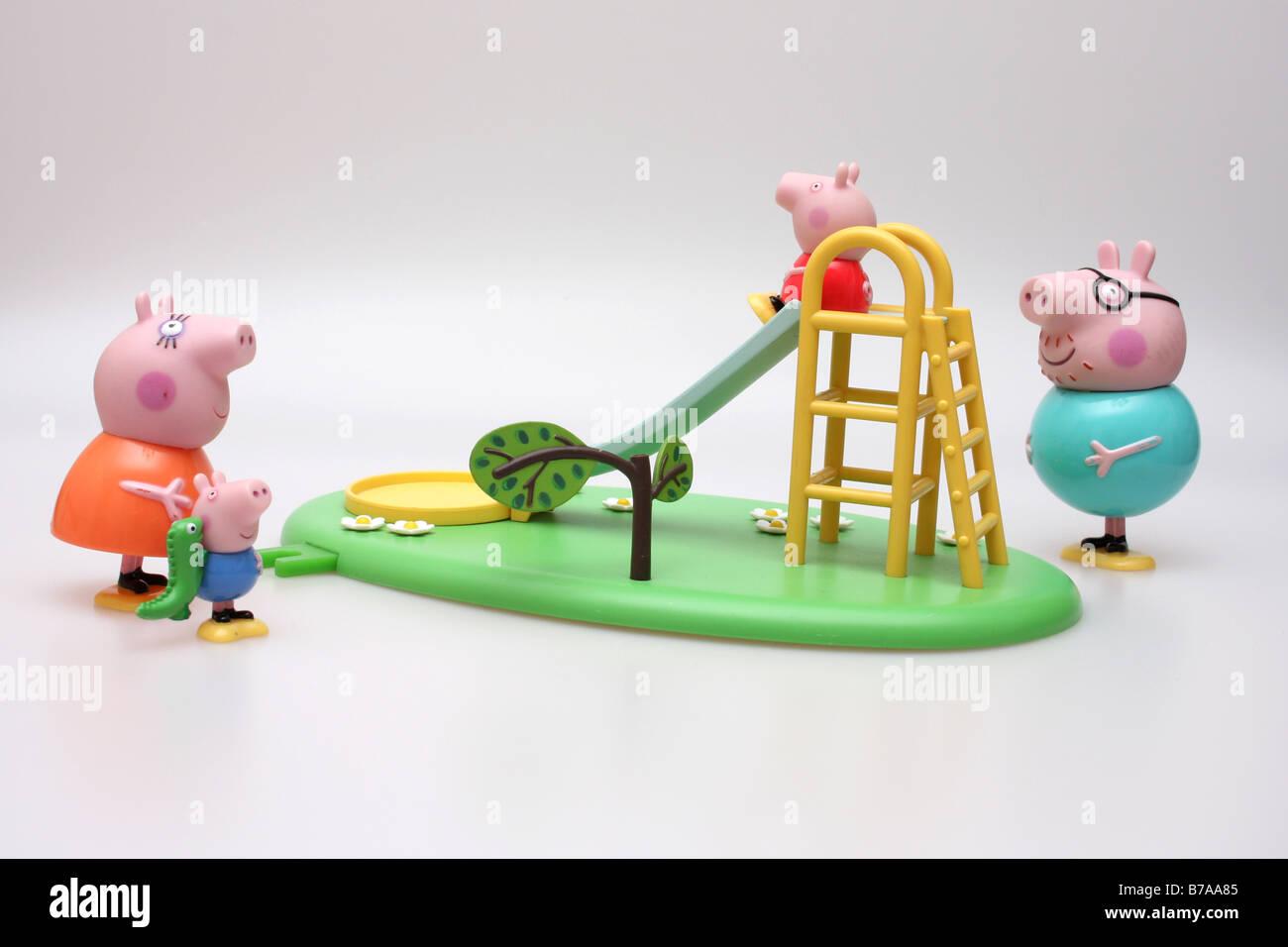 Peppa pig characters - Stock Image