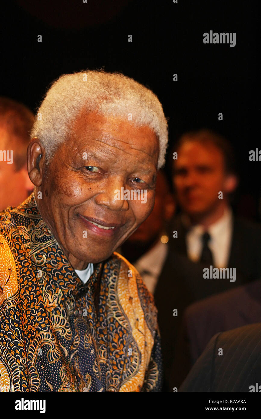 Former president Nelson Mandela Stock Photo