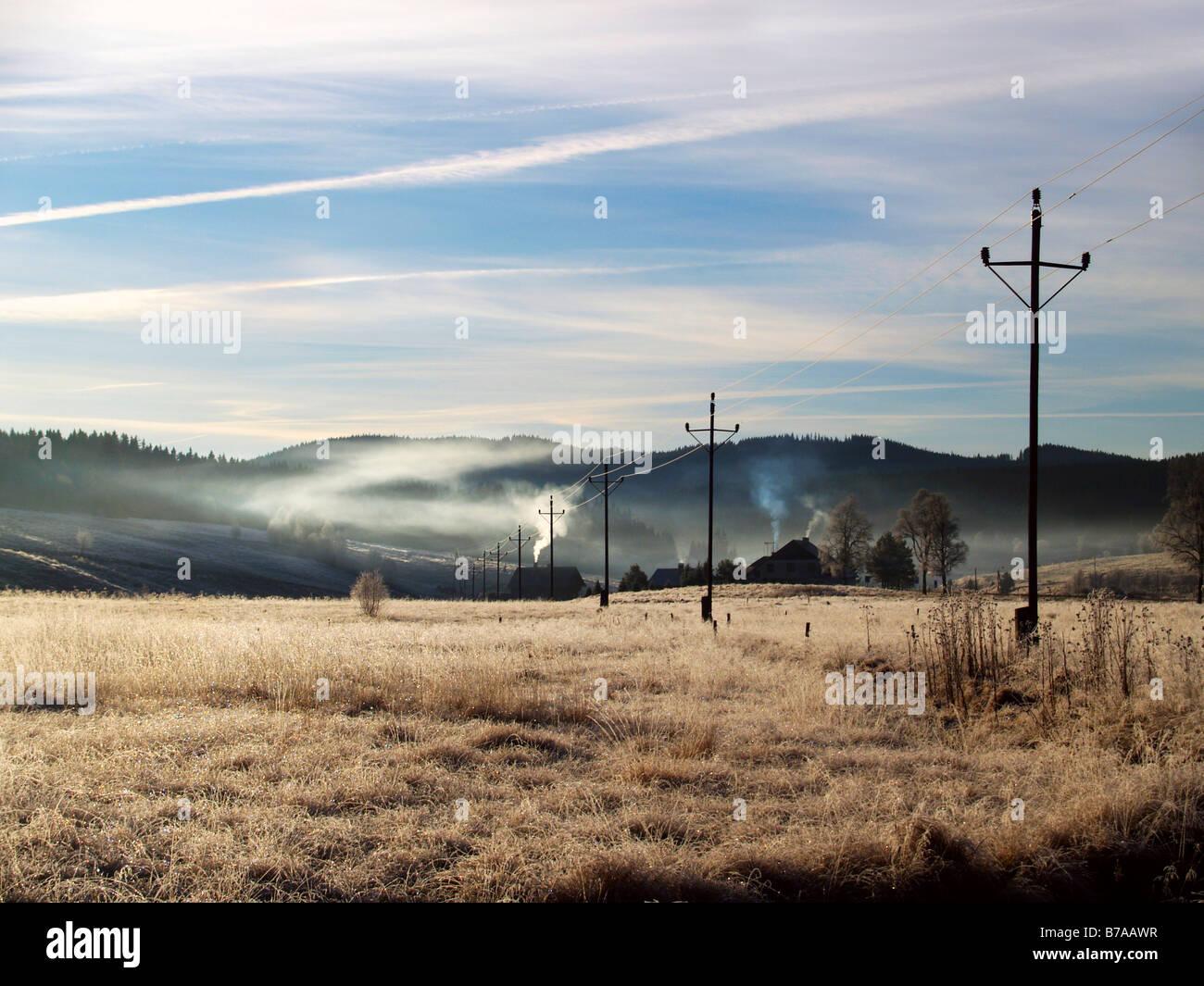 Kvilda, Bohemian Forest National Park, Sumava National Park, Bohemia, Czech Republic, Europe - Stock Image