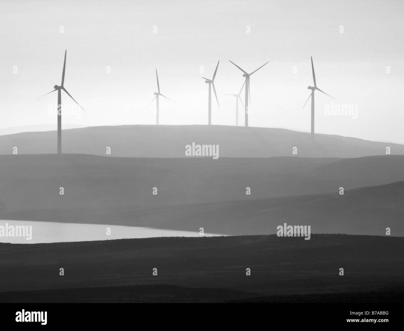 The Earlsburn Wind Farm in the Campsie Hills, Stirling, Scotland, UK. - Stock Image