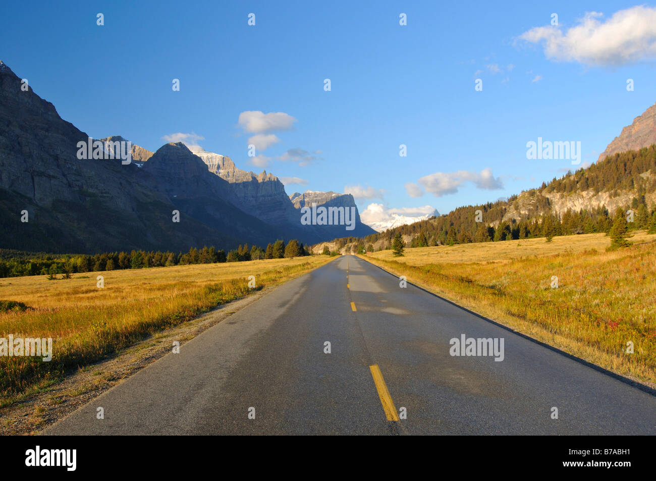 Going to the Sun Road, Glacier National Park, Montana, USA, North America - Stock Image