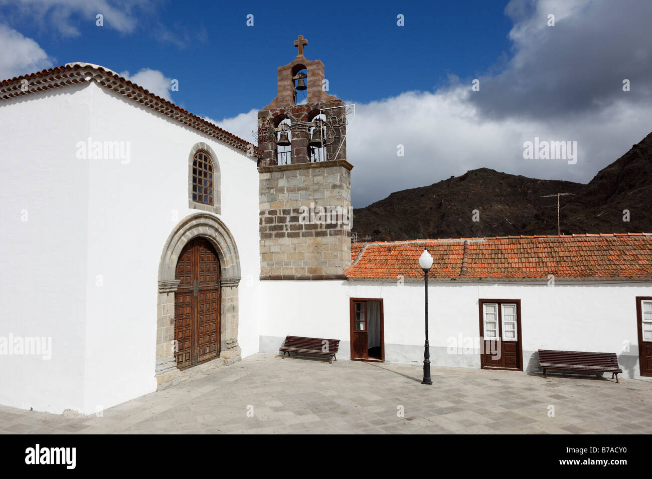 Monastic church of the Dominican monastery, El Convento de Santo Domingo, Hermigua, La Gomera, Canary islands, Spain, - Stock Image