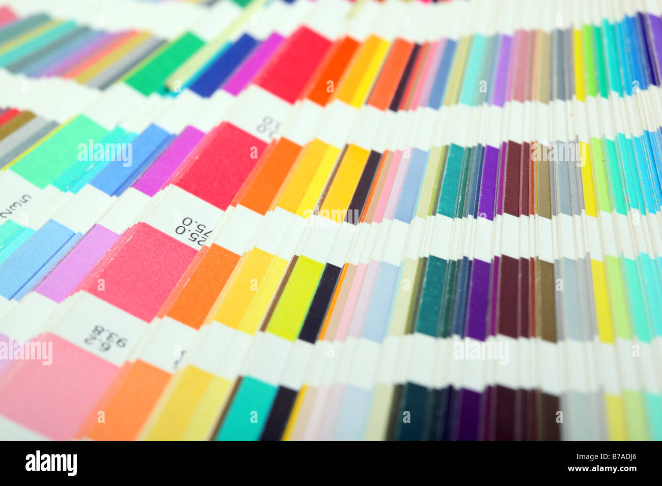 detail from pantone color scale samples lithography printing industry for background use - Stock Image