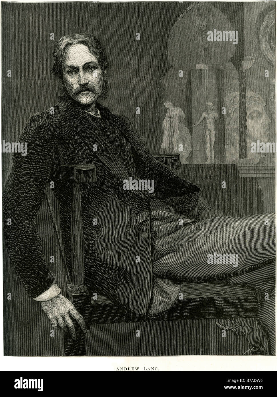 Andrew Lang 31 March 1844, Selkirk – 20 July 1912 Banchory Kincardineshire was a prolific Scots man of letters. - Stock Image