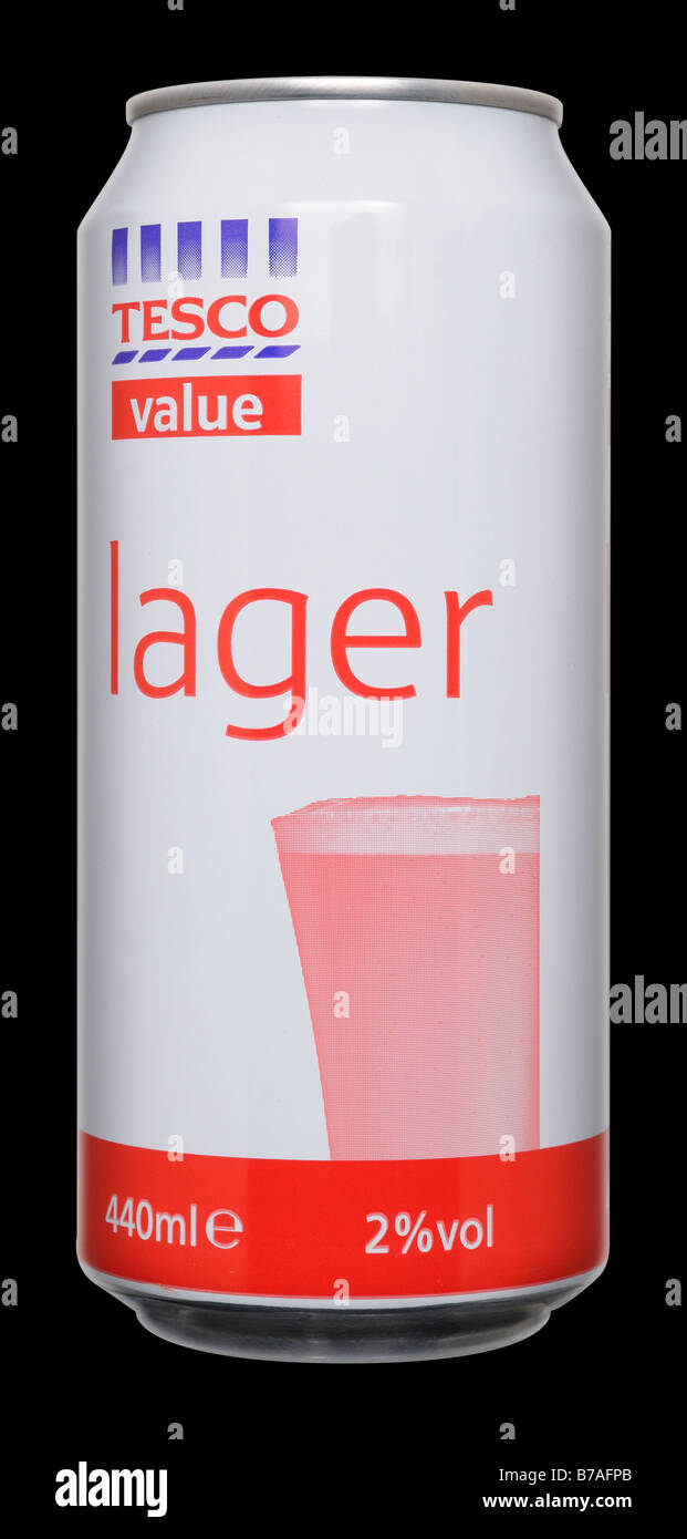 Tesco Value Larger Beer Can - Stock Image