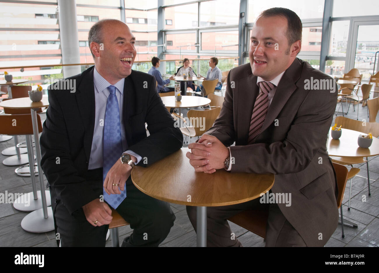 Paul Davies AM and Darren Miller AM Conservative Assembly Members in the National Assembly for Wales - Stock Image