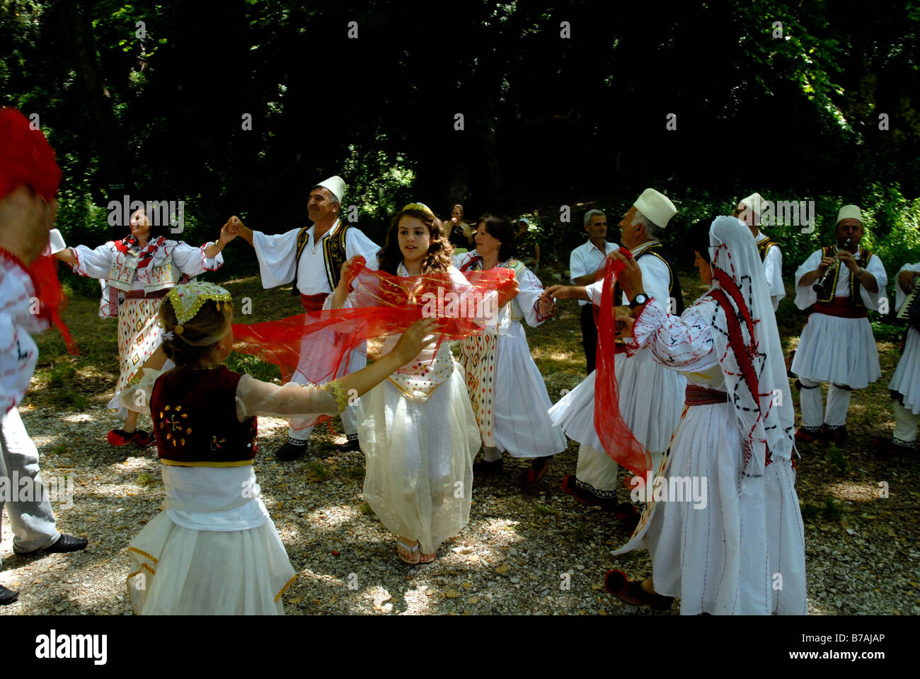 Dancers at The Festival of the Children - Stock Image