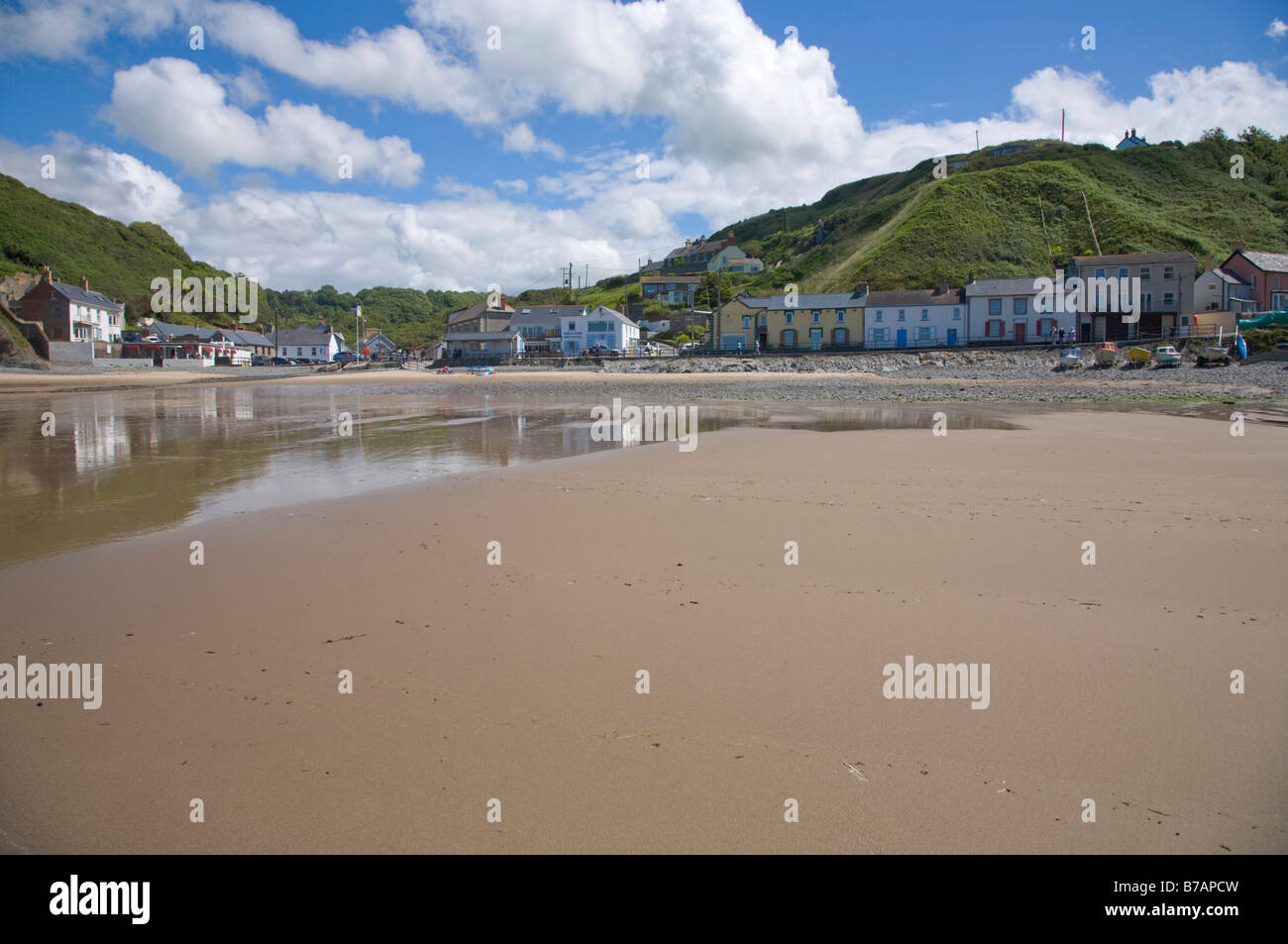 Llangrannog Beach Cardiganshire Cardigan bay Wales UK Stock Photo