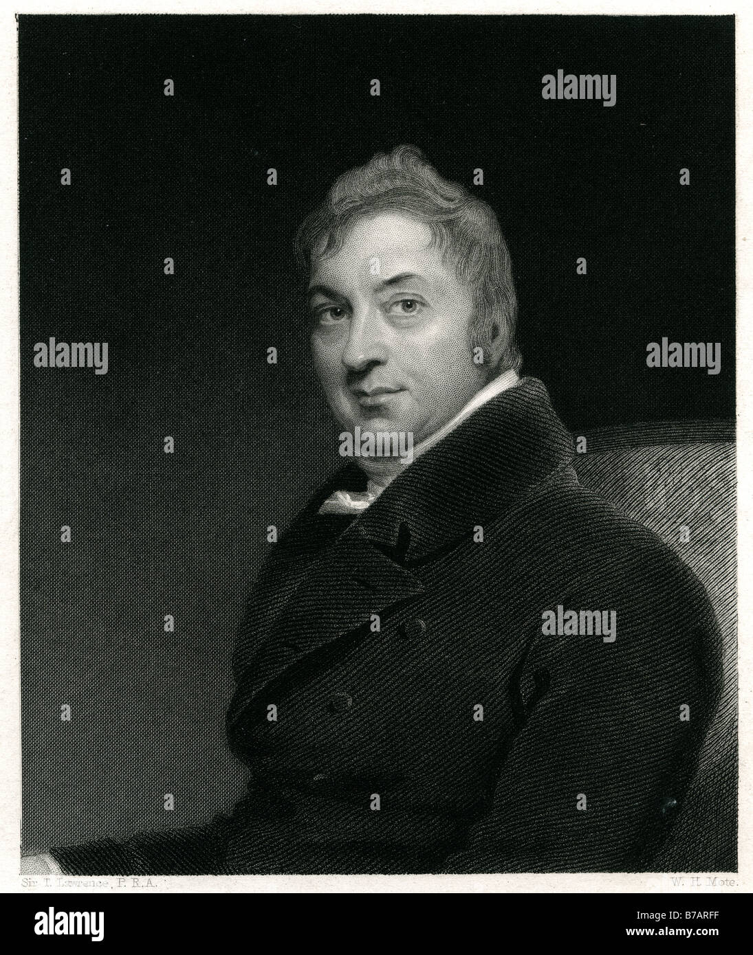 Edward B. Jenner, FRS, (18th May 1749 – 26 January 1823) was an English scientist who studied his natural surroundings - Stock Image