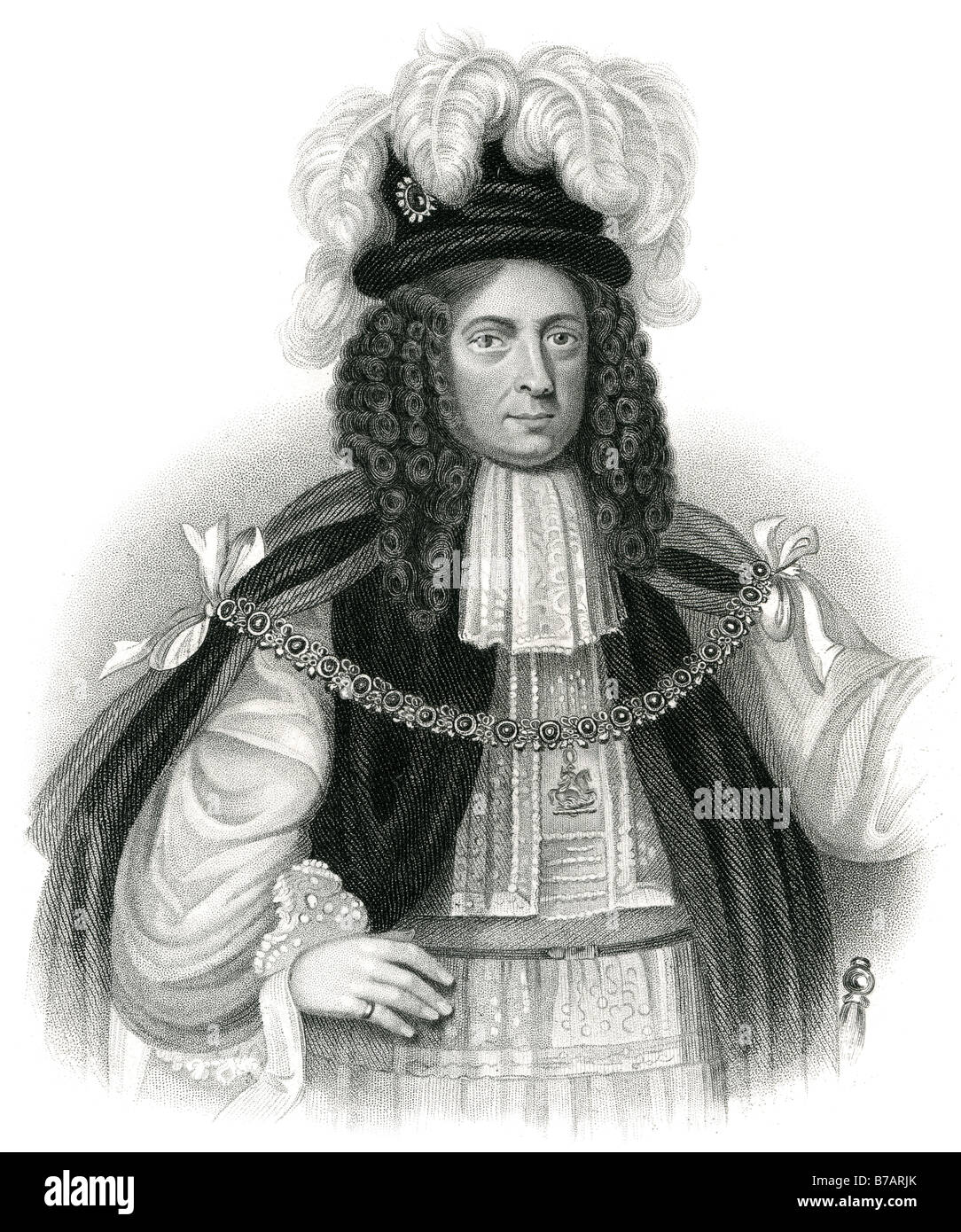 James Butler, 1st Duke of Ormonde (October 19, 1610 – July 21, 1688), was an Anglo-Irish statesman and soldier. - Stock Image