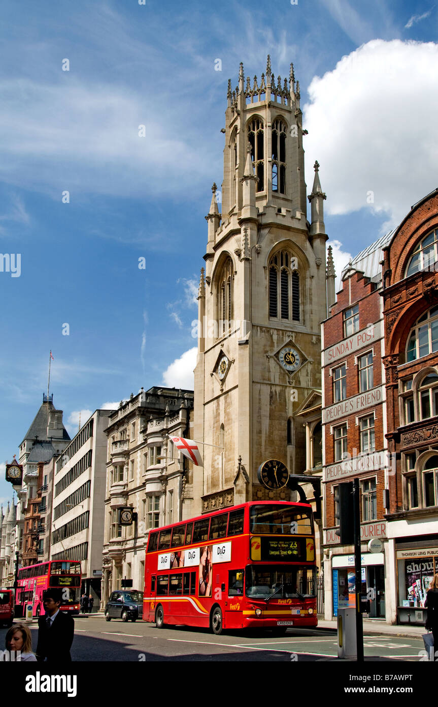 London The Royal Courts of Justice the Law courts Strand Fleet Street  Holborn Victorian Gothic - Stock Image
