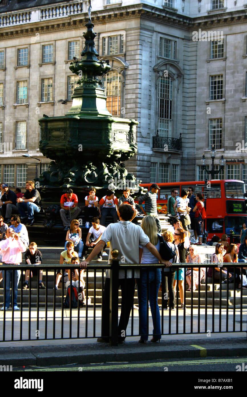 Picadilly Circus, London, England, UK - Stock Image