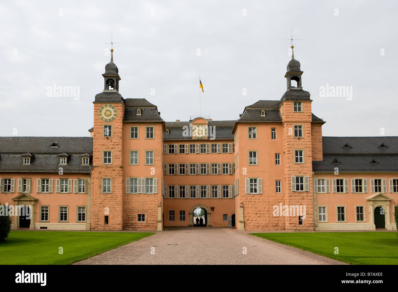 The castle Schwetzinger Schloss - Stock Image