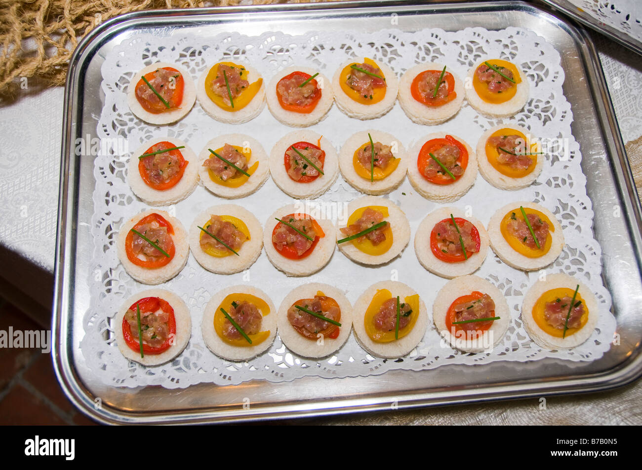 Party appetizers selection - Stock Image
