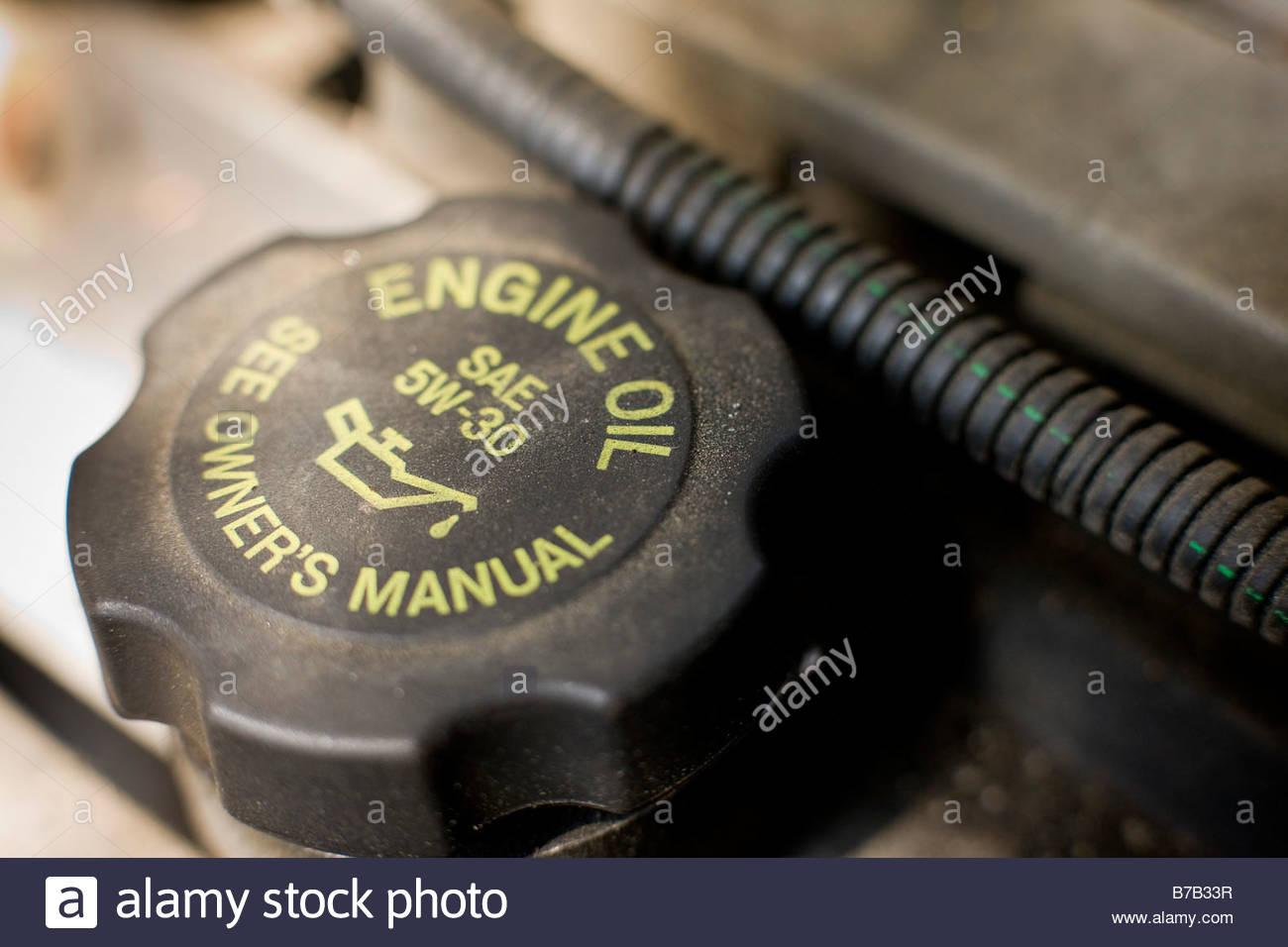 close   engine oil cap stock photo  alamy