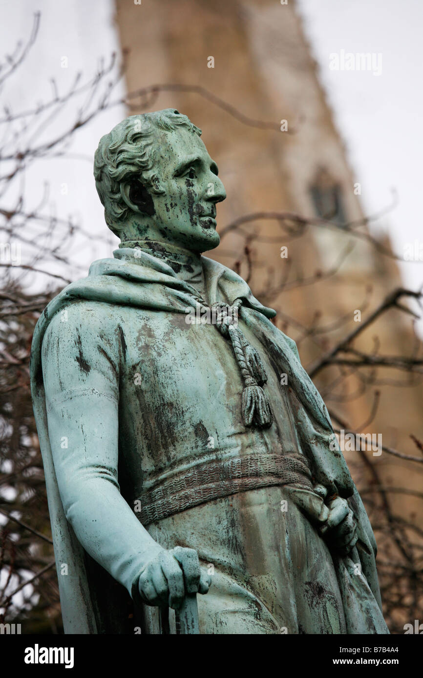 Duke of Wellington Statue Norwich Cathedral Norfolk England - Stock Image