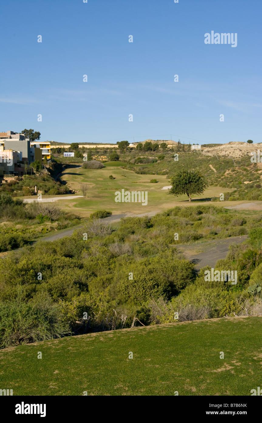 'Par 5' '4th Hole' Valle Del Este Golf Course Resort Vera Almeria Spain Spanish Golf Courses - Stock Image