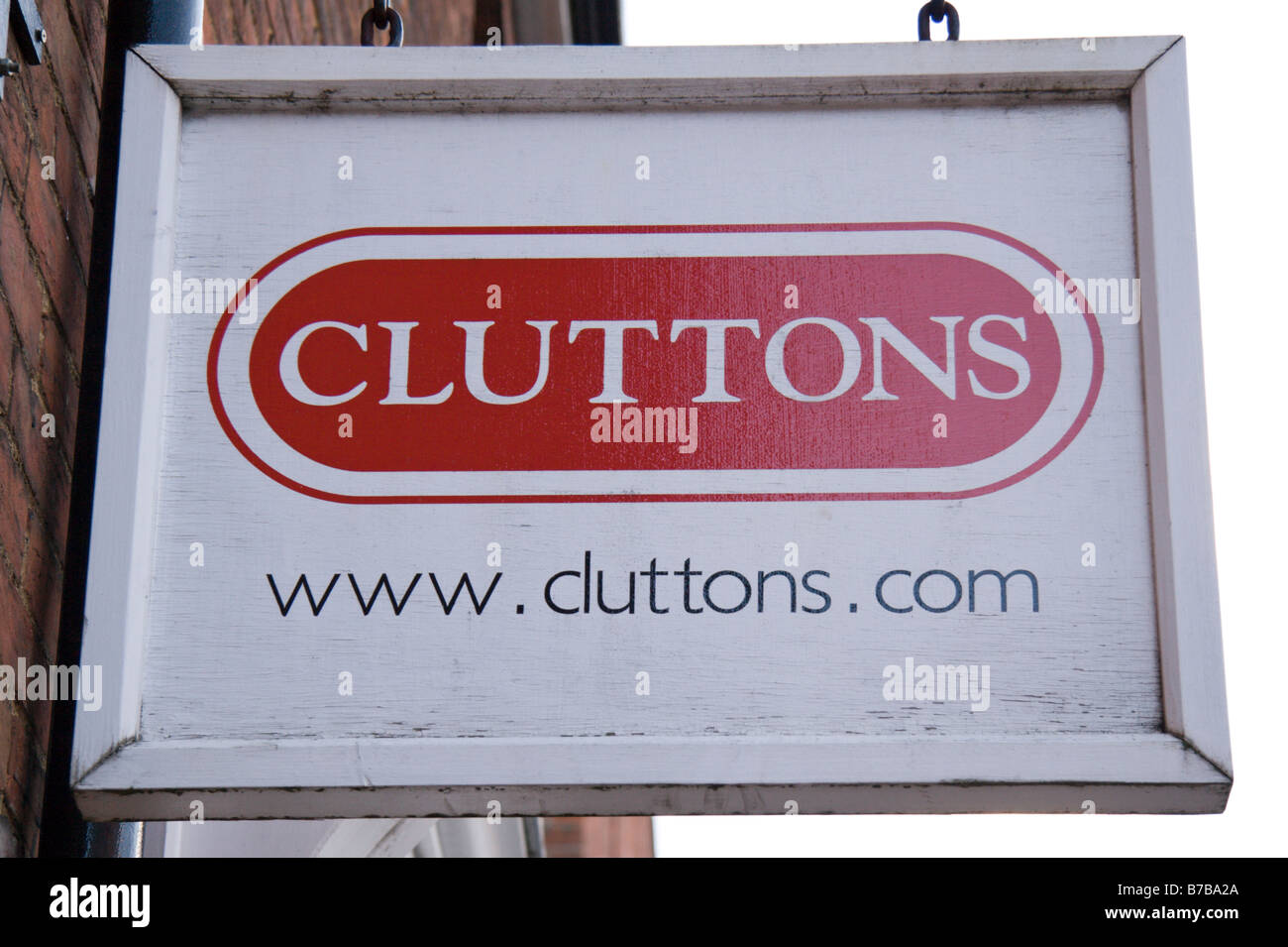 Sign outside a branch of Cluttons estate agents in Oxford, England. Jan 2009 - Stock Image