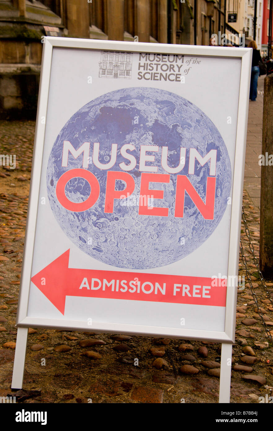Sign outside the Museum of the History of Science, Broad Street, Oxford, England. Jan 2009 - Stock Image