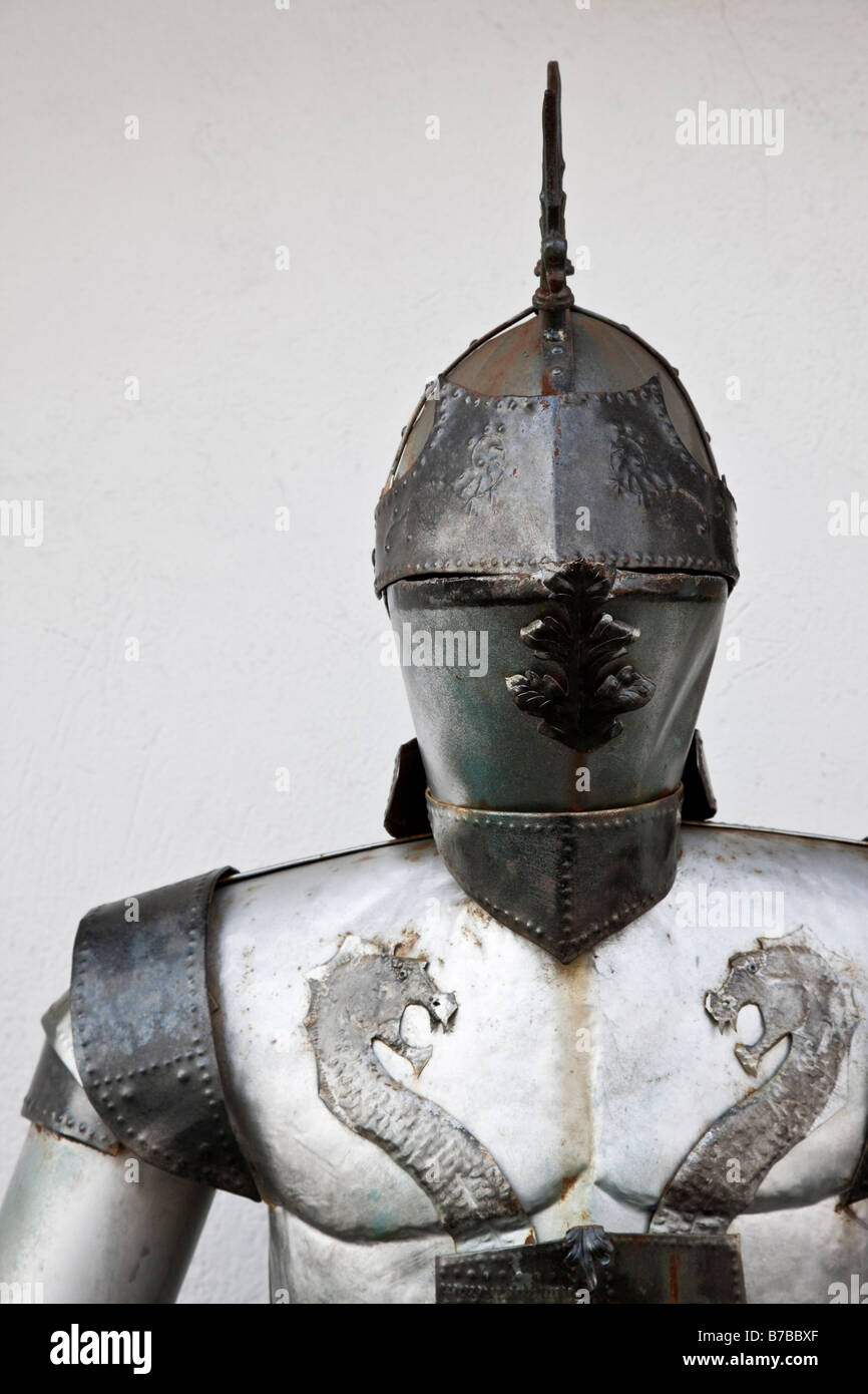 The bust section of an old suit of armor - Stock Image