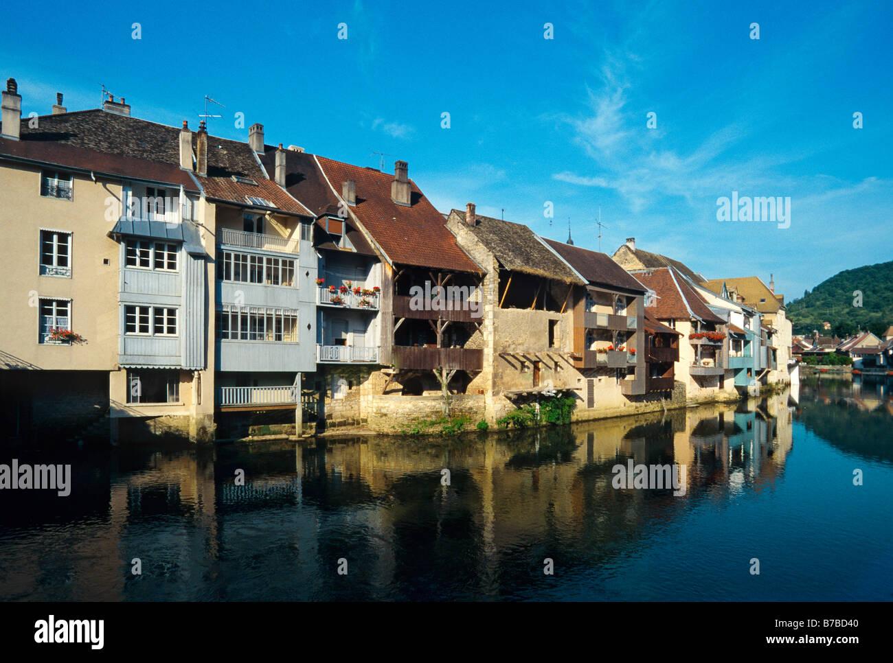 ORNANS DOUBS FRANCHE COMTE FRANCE - Stock Image
