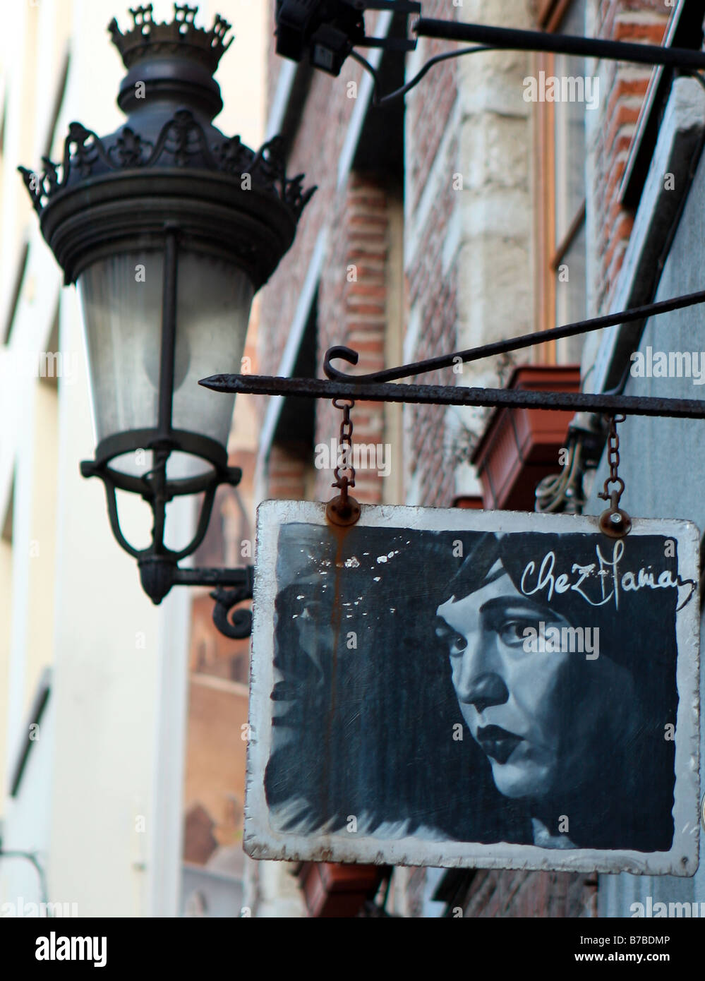 Chez Maman sign Brussels - Stock Image