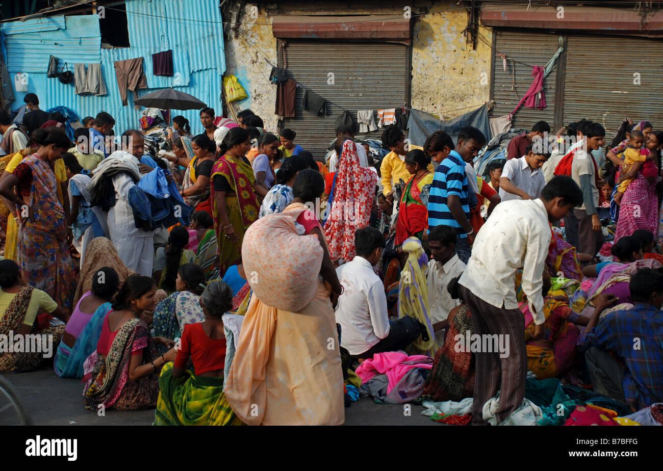 Market scene in Ahmedabad, India. - Stock Image